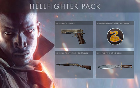 Купить ключ Battlefield 1: Hellfighter Pack